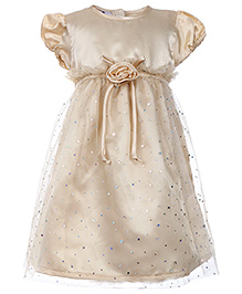 Cupcake Celebrations Short Sleeves Party Dress - Studs Work
