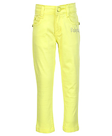 Babyhug Twill Trouser - Lemon