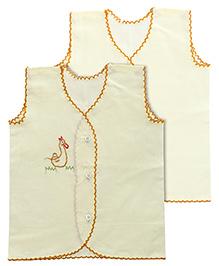 Babyhug Sleeveless Vests - Set Of 2