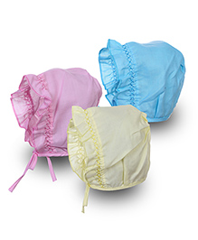 Babyhug Cap With Knot - Pack Of 3