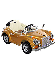 Fab N Funky Battery Operated Ride On Car - Golden