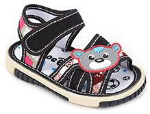 Shoebiz Sandal Velcro Closure - Teddy Face Motif