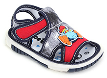 Shoebiz Sandal Velcro Closure - Racing Car Motif