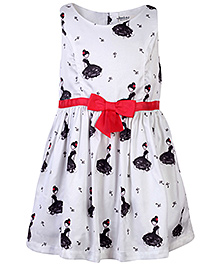 Beebay Doll Printed Bow Dress - White