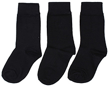 Hush Puppies Plain Socks Black - Set Of 3