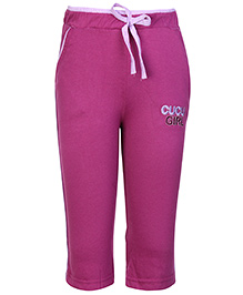 Cucu Fun Full Length Track Pant - Cucu Girl Embroidery