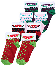 Hush Puppies Printed Socks - Set Of 4