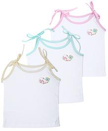 Babyhug Slip Singlet Tie Up Sleeves - Set of 3