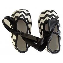 NeedyBee Infant Soft Sole Slip On Crib Shoe - Black Stripes