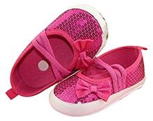 NeedyBee Infant Booties Shimmery Finish - Fuchsia Pink