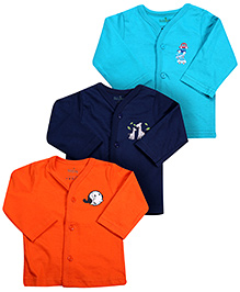 Babyhug Full Sleeves Vests - Set Of 3