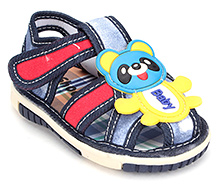 Shoebiz Sandal Velcro Closure - Baby Panda Motif
