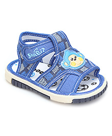 Sweet Year Sandal Velcro Closure - Monkey Motif