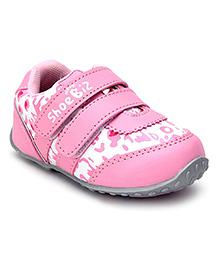 Shoebiz Shoes Dual Velcro Strap - Pink