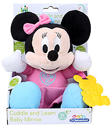 Minnie talking Plush with rattle - Length 19cm