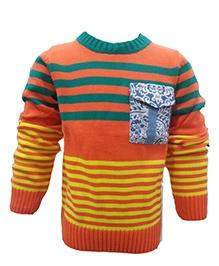 Wonderland Full Sleeves Sweater Pullover - Stripe Pattern