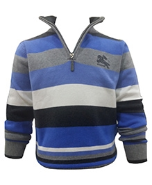 Wonderland Full Sleeves Sweater - Zip Mock Neck