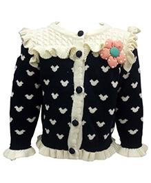 Wonderland Full Sleeves Sweater - Floral Applique