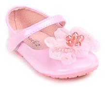 Shoebiz Party Sandal Velcro Closure - Floral Applique