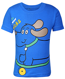 Babyhug Short Sleeves T-Shirt - Blue