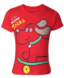 Babyhug Short Sleeves T-Shirt - Red