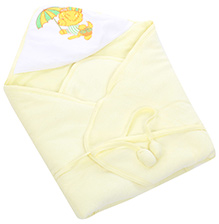 Tinycare Hooded Bath Towel Yellow - Bear Print
