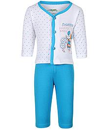 Babyhug Printed Night Suit - Full Sleeves