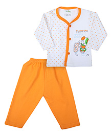 Babyhug Printed Night Suit - Full Sleeves
