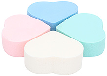 Stol'n Makeup Puff Heart Shape - Set Of 4