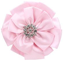Stol'n Flower Shape Hair Clip Light Pink - Studded Design