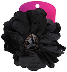 Stol'n Flower Shape Hair Clip Black - Studded Design
