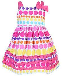 Babyhug Sleeveless Frock - Polka Dot Prints