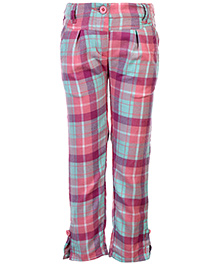 Babyhug Pleated Cotswool Trouser - Checks