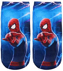 Mustang Socks Spiderman Print - Blue
