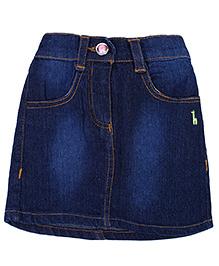 Babyhug Denim Skirt - Dark Blue