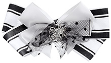 Stol'n Hair Clip Bow Design - Black And White