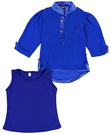 Lemonmint Full Sleeves Top With Inner - Royal Blue