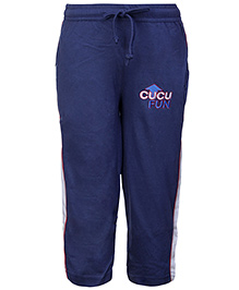 Cucu Fun Track Pant With Drawstring - Cucu Fun Embroidery