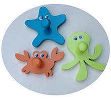 Fly Frog Wall Hook Multi Color - Sealife - All Over 5 X 5 X 5 Inches