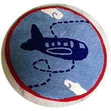 Fly Frog Room Mat Blue - Aeroplane - Diameter 24 Inches