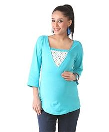 Morph Maternity Casual Knit Top - Blue