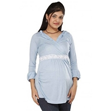 Morph Maternity Top Quarter Sleeves - Blue
