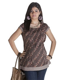Morph Maternity Top Cap Sleeves - Brown