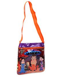 Chhota Bheem Square Shape Cross Sling Bag - Orange