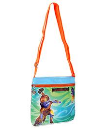 Little Krishna Square Shape Cross Sling Bag - Orange
