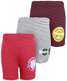 Doreme Stripes Print Shorts - Set of 3