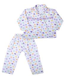 Babyhug Full Sleeves Printed Night Suit
