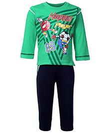 Babyhug Full Sleeves T-Shirt And Legging Set - Dual Color