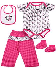 Babyhug Multi Piece Set Pink - Set of 4