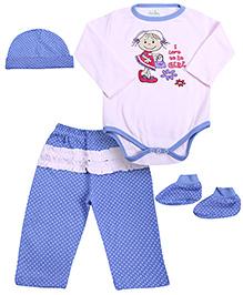 Babyhug Multi Piece Set Pink And Blue - Set of 4